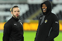 Notts County players inspect the pitch before kick-off - Mandatory by-line: Nizaam Jones/JMP - 06/02/2018 - FOOTBALL - Liberty Stadium - Swansea, Wales - Swansea City v Notts County - Emirates FA Cup fourth round proper