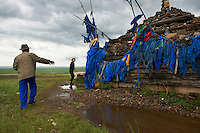 Mongolie, Province du Khentii, Ovo, monument bouddhiste // Mongolia, Khentii province, Ovo, monument bouddhiste