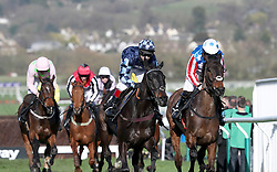 Noel Fehily (right) on Special Tiara takes the lead in the Betway Queen Mother Champion Chase during Ladies Day of the 2017 Cheltenham Festival at Cheltenham Racecourse