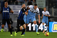 Marcelo Brozovic of Internazionale and Sergej Milinkovic-Savic of Lazio compete for the ball during the Serie A 2018/2019 football match between SS Lazio and FC Internazionale at stadio Olimpico, Roma, October, 29, 2018 <br />  Foto Andrea Staccioli / Insidefoto