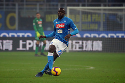 December 26, 2018 - Milan, Milan, Italy - Kalidou Koulibaly #26 of SSC Napoli in action during the serie A match between FC Internazionale and SSC Napoli at Stadio Giuseppe Meazza on December 26, 2018 in Milan, Italy. (Credit Image: © Giuseppe Cottini/NurPhoto via ZUMA Press)