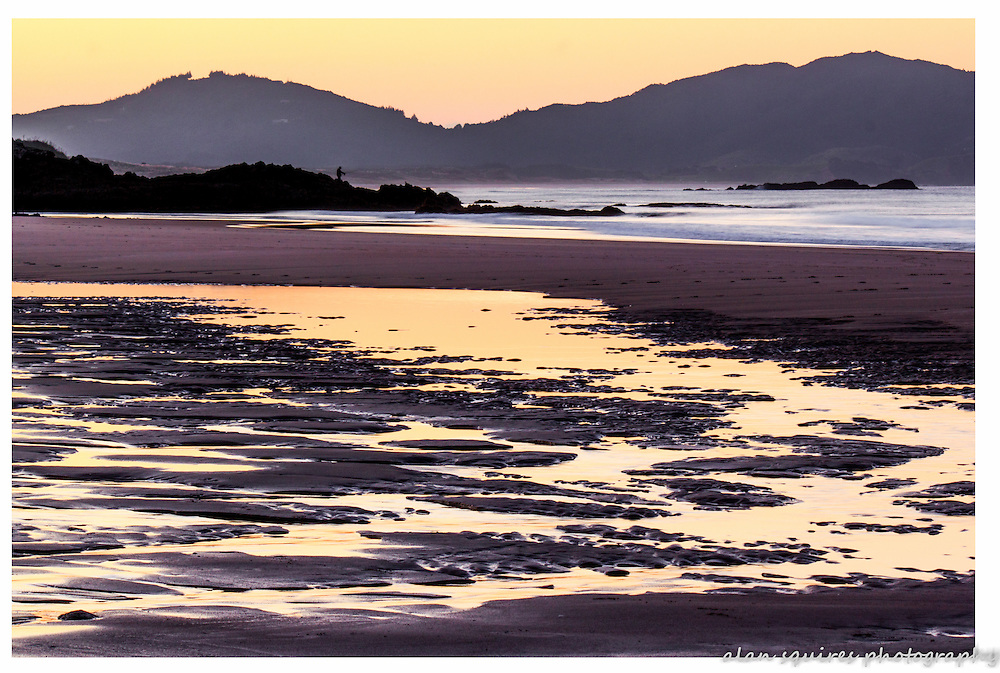ocean beach sunset, whangarei heads