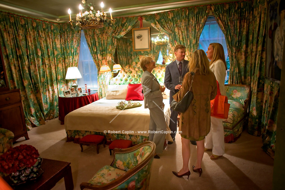 The Last Party at William F. Buckley's Apartment in New York, U.S. as part of an open house for the house-buyers, art-buyers, and friends of Buckley. Shown here is Buckley's master bedroom. June 18, 2008. Robert Caplin For The New York Times