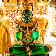 THA/Bangkok/20160729 - Vakantie Thailand 2016 Bangkok, groene Buddha