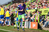 Forest Green Rovers Charlie Cooper(15) warming up during the EFL Sky Bet League 2 match between Forest Green Rovers and Chesterfield at the New Lawn, Forest Green, United Kingdom on 21 April 2018. Picture by Shane Healey.