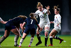 Catherine O'Donnell of England Women takes on Rachel McLachlan of Scotland Women - Mandatory by-line: Robbie Stephenson/JMP - 16/03/2019 - RUGBY - Twickenham Stadium - London, England - England Women v Scotland Women - Women's Six Nations