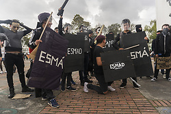 October 31, 2018 - University students march in a protest asking for a bigger budget for public higher education. (Credit Image: © Daniel Garzon Herazo/ZUMA Wire)