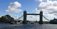 The Twoer Bridge across the Thames River in London UK.<br /> Photo by Dennis Brack