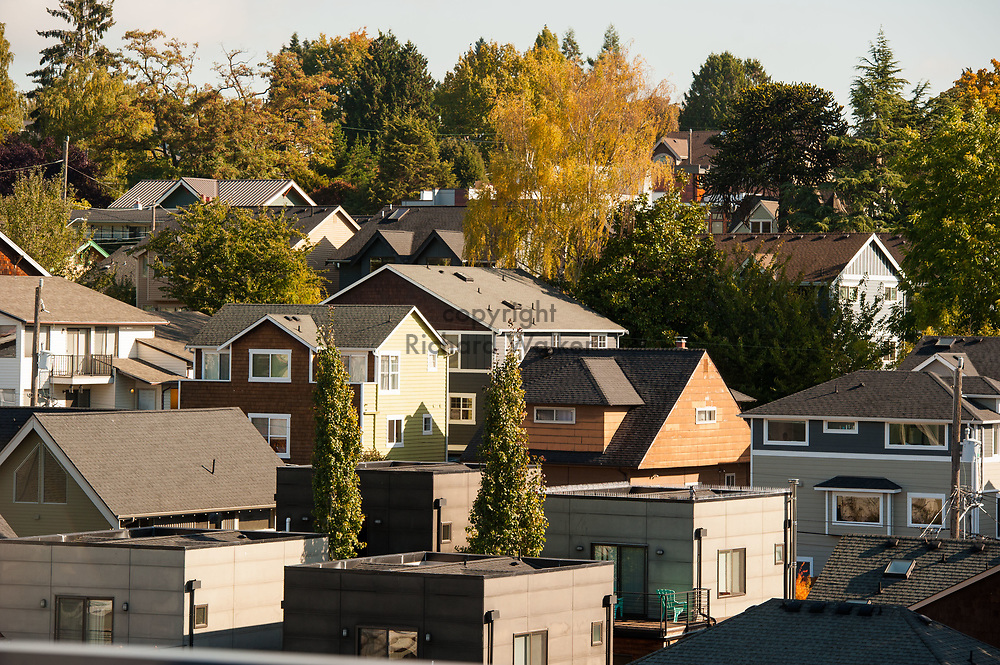 2017 October 16 - Houses and homes in Fremont, Seattle, WA, USA. By Richard Walker
