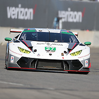 Detroit, MI - Jun 03, 2016:  The Dream Racing Lamborghini Huracan GT3 races through the turns at the Detroit Grand Prix at Belle Isle Park in Detroit, MI.