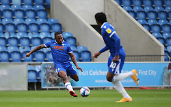Callum Harriott of Colchester United shapes to shoot - Mandatory by-line: Arron Gent/JMP - 03/10/2020 - FOOTBALL - JobServe Community Stadium - Colchester, England - Colchester United v Oldham Athletic - Sky Bet League Two