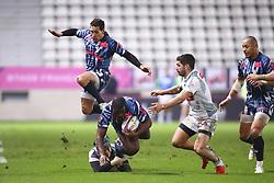 January 11, 2019 - Paris, France - Julien Arias (Stade Francais) / Lester Etien (Stade Français) / Gael Fickou (Stade Francais) vs (Credit Image: © Panoramic via ZUMA Press)