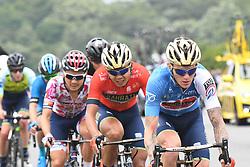 May 26, 2018 - Izu, Shizuoka, Japan - Slovenia's Grega Bole Bahrain-Merida) in action leading a six men breakaway during Izu stage, 120.8km on Izu-Japan Cycle Sports Center Road Circuit, the seventh stage of Tour of Japan 2018. .On Saturday, May 26, 2018, in Izu, Shizuoka Prefecture, Japan. (Credit Image: © Artur Widak/NurPhoto via ZUMA Press)