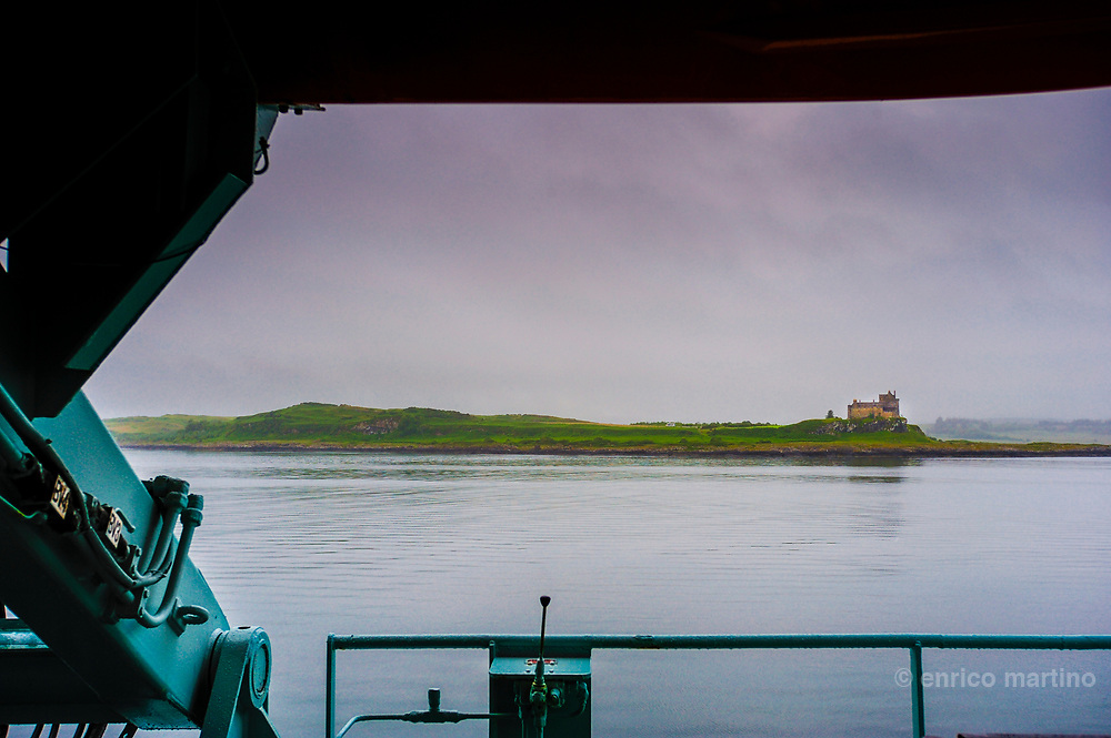 Mull island: Duart castle from the ferry.