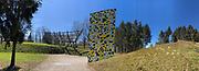 Österreichischer Skulpturenpark (Austrian Sculptures Park), Premstätten.<br /> Mario Terzic, Arche aus lebenden Bäumen, 1998/2010-2011 (l.), Jörg Schlick, Made in Italy, 2003