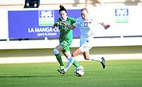 Fotball , 15. januar 2015 , privatkamp , kvinner , damer<br /> Norge - Irland<br /> Norway - Ireland<br /> Synne Jensen , Norge<br /> Sophie Perry , Irland