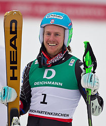 18-02-2011 SKIEN: FIS ALPINE WORLD CHAMPIONSSHIP: GARMISCH PARTENKIRCHEN<br />  Gold Medal and World Champion Ted Ligety (USA) during mens Giant Slalom <br /> **NETHERLANDS ONLY**<br /> ©2011-WWW.FOTOHOOGENDOORN.NL/EXPA/ J. Groder