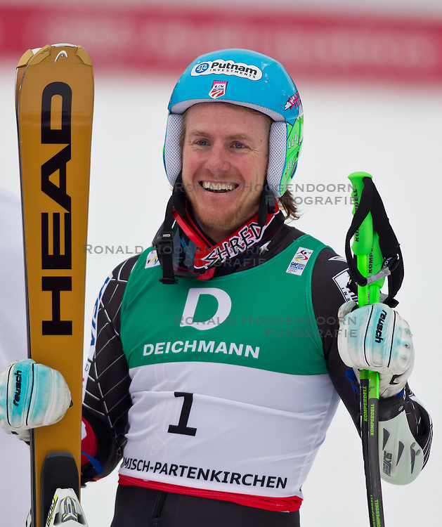18-02-2011 SKIEN: FIS ALPINE WORLD CHAMPIONSSHIP: GARMISCH PARTENKIRCHEN<br />  Gold Medal and World Champion Ted Ligety (USA) during mens Giant Slalom <br /> **NETHERLANDS ONLY**<br /> ©2011-WWW.FOTOHOOGENDOORN.NL/EXPA/ J. Groder