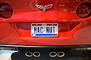 Vehicle registration plate Mac Nut on vehicle in Anna Maria Island, United States of America