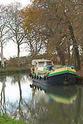Villesequelande, near Carcassonne. Languedoc. Canal du Midi. France. Europe.