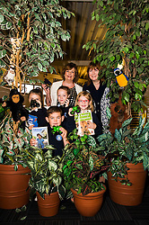 Pictured: Daniel Lawrie (8) Nathan Murray (8) Nicole Hynd (8) Antonia Kikoszka, Fiona Hyslop and Pamala Tulloch, Chief Executive of SLIC <br /> Culture Secretary Fiona Hyslop MSP visited Wester Hailes Library in Edinburgh today to meet primary-school pupils and Edinburgh City Council officials  to announce libraries support package<br /> <br /> Ger Harley   EEm 7 September 2016