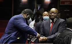 South Africa - Pietermaritzburg - 23 June 2020 - The former president Jacob Zuma at the dock at his court appearance in person at the Pietermaritzburg High Court on Tuesday for his corruption trial. The matter was  adjourned to the 8th of September 2020<br /> Picture: Motshwari Mofokeng/African News Agency (ANA)