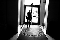 Treasurer Phil Angelides, leaves the building for an appointment, Thursday Dec. 14, 2006, days before Phil leaving office.
