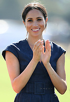 The Duke and Duchess of Sussex attend the Sentebale ISPS Handa Polo Cup at the Royal County of Berkshire Polo Club, Ascot, Berkshire, UK, on the 26th July 2018.<br /> <br /> Picture by James Whatling