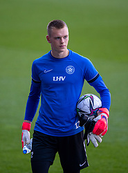CARDIFF, WALES - Tuesday, September 7, 2021: Estonia's goalkeeper Karl Jakob Hein during a training session at the Cardiff City Stadium ahead of the FIFA World Cup Qatar 2022 Qualifying Group E match between Wales and Estonia. (Pic by David Rawcliffe/Propaganda)