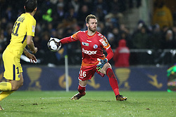 December 13, 2017 - Strasbourg, France - Strasbourg's French goalkeeper Alexandre Oukidja during the french League Cup match, Round of 16, between Strasbourg and Paris Saint Germain on December 13, 2017 in Strasbourg, France. (Credit Image: © Elyxandro Cegarra/NurPhoto via ZUMA Press)