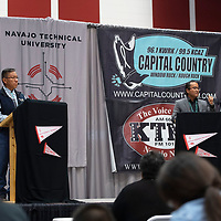 A debate between vice presidential candidates Myron Lizer and Buu Nygren at the Navajo Nation Presidential Candidates Debate Tuesday, Oct. 16, 2018 at Navajo Technical University in Crownpoint.