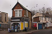 Small Victorian newsagent and corner shop still open during the second national coronavirus lockdown on 28th November 2020 in Tottenham, London, United Kingdom. The new national lockdown is a huge blow to the economy and for individuals who were already struggling, as Covid-19 restrictions are put in place until 2nd December across England, with all non-essential businesses closed.