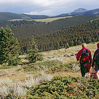 Meredith & Nick Wiltsie descend Montana's Tobacco Root Mountains.