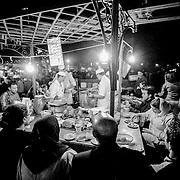 Djemaa el Fna food stall, Marrakech, Morocco (November 2006)