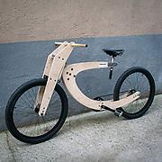 Il FuoriSalone 2012 in Zona Tortona: la bicicletta di legno di Antonino Sinacori<br /> <br /> Tortona Area Lab at Fuorisalone 2012: the wooden bicycle by Antonino Sinacori