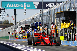 March 23, 2018 - Melbourne, Victoria, Australia - RAIKKONEN Kimi (fin), Scuderia Ferrari SF71H, action during 2018 Formula 1 championship at Melbourne, Australian Grand Prix, from March 22 To 25 - Photo  Motorsports: FIA Formula One World Championship 2018, Melbourne, Victoria : Motorsports: Formula 1 2018 Rolex  Australian Grand Prix,   #7 Kimi Raikkonen (FIN, Scuderia Ferrari) (Credit Image: © Hoch Zwei via ZUMA Wire)