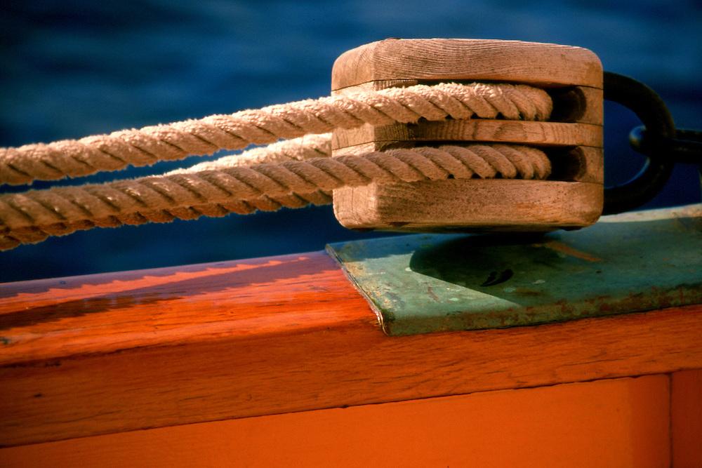 Rigging on sailboat, St. Tropez France
