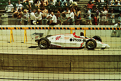 Indianapolis Time Trials, May 1987<br /> #97 - Rick Miaskiewicz - did not qualify or withdrew.<br /> <br /> A scan from an old photo or slide from the collection of Alan and Becky Look dated 1987 and 1988.