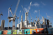 Redevelopment of Battersea Power Station and its surroundings on 8th January 2019 in London, England, United Kingdom. Battersea Power Station is a decommissioned coal-fired power station located on the south bank of the River Thames, in Nine Elms, Battersea, an inner-city district of South West London. Now a construction site and under development, the site will become both residential and commercial. (photo by Mike Kemp/In Pictures via Getty Images)