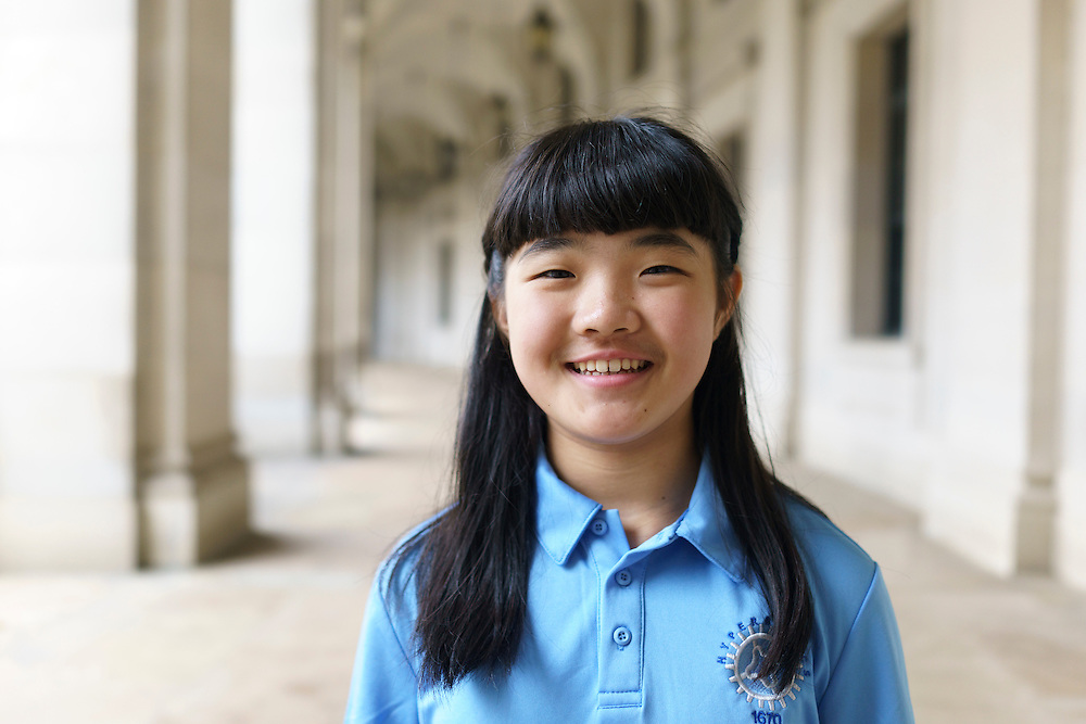 Washington, D.C. - October 07, 2016: Claire Meng, 7th grade.<br /> <br /> The Hyperbolics are a First Lego League team based out of Sterling School in Greenville SC, who made a trip to DC ask government officials to ban lead wheel weights Friday October 7, 2016.<br /> <br /> <br /> CREDIT: Matt Roth for Earthjustice