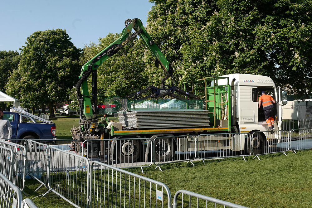 **NO WEB UNTIL 3pm** Clean up begins in Windsor after the Royal wedding between Prince Harry and Meghan Markle at Windsor Castle. 20 May 2018 Pictured: Royal Wedding Windsor. Photo credit: W8Media / MEGA TheMegaAgency.com +1 888 505 6342