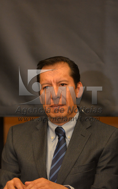 TOLUCA, México.- (Septiembre 25, 2018).- Odilón López Nava, durante la  conferencia de prensa en donde se presento a los integrantes del Consejo Coordinador Empresarial del Estado de México (CCEM) este consejo representara sectores de la economía como la industria, comercio, servicios y turismo del Estado de México.  Agencia MVT / Crisanta Espinosa.