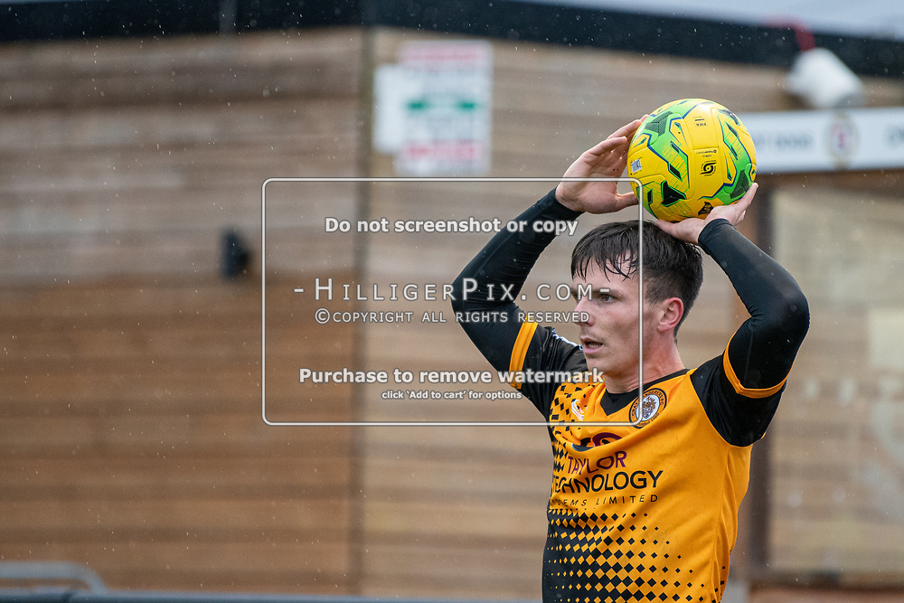 BROMLEY, UK - NOVEMBER 02: Tom Carlse, of Cray Wanderers FC, takes a throw-on during the BetVictor Isthmian Premier League match between Cray Wanderers and Worthing at Hayes Lane on November 2, 2019 in Bromley, UK. <br /> (Photo: Jon Hilliger)