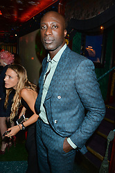 OZWALD BOATENG at a party hosted by fashion website Farfetch to launch i.am + EPs headphones hosted by Will.i.am at Loulou's, 5 Hertford Street, London on 16th September 2016.