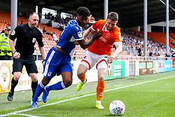 Mark Little of Bristol Rovers takes on James Husband of Blackpool - Mandatory by-line: Robbie Stephenson/JMP - 03/08/2019 - FOOTBALL - Bloomfield Road - Blackpool, England - Blackpool v Bristol Rovers - Sky Bet League One