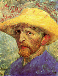 1880 - Holland - Self Portrait of  Vincent Van Gogh with Straw Hat [3] (Credit Image: © BuyEnlarge/ZUMAPRESS.com)