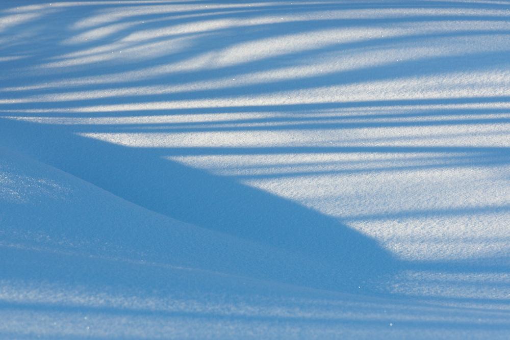 SHADOWS ON SNOW; STRIPES; OULU, FINLAND; EUROPE; 2009