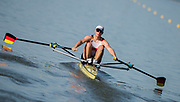 Plovdiv BULGARIA. 2017 FISA. Rowing World U23 Championships. <br /> GER BM1X, WEBER, Marc,<br /> Wednesday. PM,  Heats 18:15:07  Wednesday  19.07.17   <br /> <br /> [Mandatory Credit. Peter SPURRIER/Intersport Images].