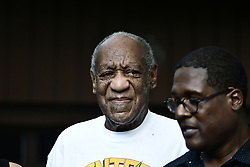 US actor Bill Cosby appears in front of the media after he arrived home following the Pennsylvania Supreme Court's ruling throwing out Cosby's sexual assault conviction which is expected to result in his release from prison in Elkins Park, Pennsylvania, USA, 30 June 2021. Cosby has already served more than two years in prison following his conviction for assaulting Andrea Constand. EPA-EFE/BASTIAAN SLABBERS