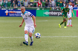 November 4, 2018 - Portland, OR, U.S. - PORTLAND, OR - NOVEMBER 04: Seattle Sounders midfielder Osbaldo Alonso (6) takes a pass during the Portland Timbers first leg of the MLS Western Conference Semifinals against the Seattle Sounders on November 04, 2018, at Providence Park in Portland, OR. (Photo by Diego Diaz/Icon Sportswire) (Credit Image: © Diego Diaz/Icon SMI via ZUMA Press)